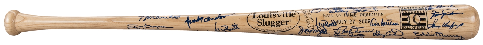 Hall of Famers Multi Signed 2008 National Baseball Hall of Fame Bat With Over 40+ Signatures (Doerr Family LOA & JSA)