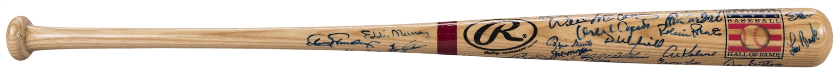 Hall of Famers Multi Signed 2004 National Baseball Hall of Fame Bat With Over 40+Signatures (Doerr Family LOA & JSA)