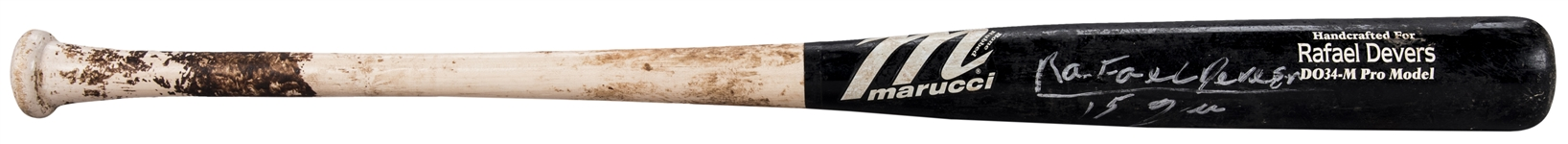 2015 Rafael Devers Game Used & Signed Marucci DO34-M Model Bat (Anderson Authentics)