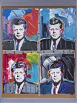 1995 John F. Kennedy Original Oil Painting On Canvas By Peter Max On 36x48 Framed Backing (Abdul-Jabbar LOA)