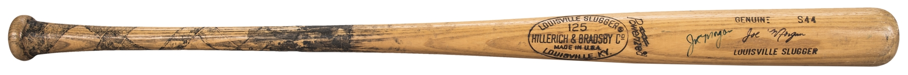 1979 Joe Morgan Game Used & Signed Hillerich & Bradsby S44 Model Bat (PSA/DNA)