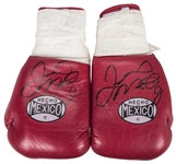 Floyd Mayweather Fight Worn & Dual Signed Boxing Gloves (Beckett, WBC, Travis Roste LOA & Letter of Provenance)