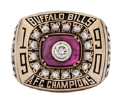 1990 Buffalo Bills AFC Championship Ring Given To Andre Reed (Reed LOA)