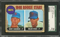 1968 Topps #177 Nolan Ryan Rookie Card – SGC 96 MINT 9