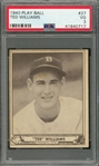1940 Play Ball #27 Ted Williams – PSA VG 3