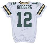 2016 Aaron Rodgers Game Used & Photo Matched Green Bay Packers Road Jersey Used on 11/13/2016 & 11/20/2016 (722 Total Yards and 5 Tds!) (Resolution Photomatching)