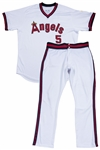 2018 Albert Pujols Game Used Los Angeles Angels 1980s Turn Back The Clock Uniform: Jersey Worn On 8/27/18 & Pants Worn On 8/27/18 & 8/28/18 (MLB Authenticated)