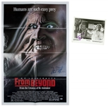 "Lot of (2) Stuart Gordon & Barbara Crampton Single Signed ""From Beyond"" Movie Poster & Photo (Beckett)"