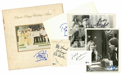 Lot of (6) Comedians Signed Photos & Cuts: Dangerfield, Letterman, Chong, Caesar, Nielson & Skelton (Beckett)