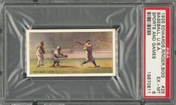 "1935 Edwards, Ringer & Bigg Tobacco ""Sports & Games In Many Lands"" #25 Babe Ruth – PSA EX-MT 6"