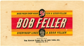 "1940s Euclid Candy Co. ""Bob Feller"" Candy Wrapper"