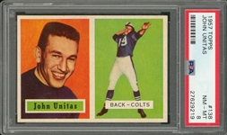 1957 Topps Football #138 John Unitas Rookie Card – PSA NM-MT 8