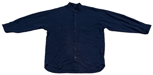 "Denzel Washington On Screen Worn Blue Shirt Used For ""Training Day"""