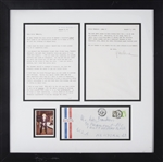 1981 Marlene Dietrich Signed Typed Letter With Photo & Original Envelope In 20x21 Framed Display (Beckett)
