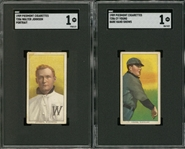 1909-11 T206 White Border Hall of Famers Collection (4 Different) Including Young, Johnson, Brown and Lajoie