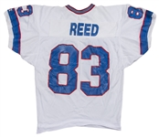 1990 Andre Reed Super Bowl XXV Game Used & Photo Matched Buffalo Bills White Jersey (Reed LOA & Resolution Photomatching)