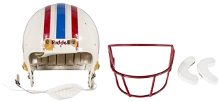 Warren Moon Game Used Houston Oilers Helmet (Letter of Provenance)