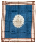"1840 William Henry Harrison ""The Hero of Tippecanoe"" Portrait Campaign Flag"