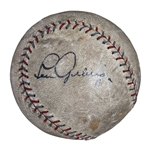 Extremely Bold Lou Gehrig Single Signed Official American League Baseball (PSA/DNA & JSA)