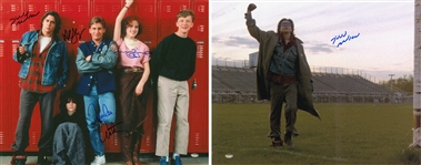 Lot of (2) Hollywood Entertainers and Actors Signed 16x20 Photos Including The Breakfast Club Cast and Judd Nelson (Schwartz)