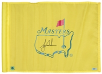 Tiger Woods Tournament Used & Signed Masters Flag (UDA)
