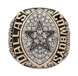 1992 Dallas Cowboys Super Bowl XXVII Champions Player Ring With Original Presentation Box- Presented To Dixon Edwards (Edwards LOA)