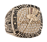 2001 New York Yankees American League Championship Players Ring With Original Presentation Box - Presented To Chuck Knoblauch (Family LOA)