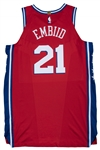 2017-18 Joel Embiid Game Used Philadelphia 76ers Red Statement Jersey Used on 3/8/18 (NBA/MeiGray LOA)