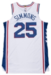 2017-18 Ben Simmons Game Used & Photo Matched Philadelphia 76ers White Association Jersey Used on 4/1/18 & 4/10/18 (76ers/Fanatics & Sports Investors)