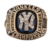 1976 New York Yankees American League Championship Players Ring - Presented To Ed Figueroa (Figueroa LOA)