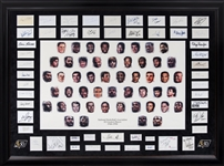 "NBA Greatest Players Lithograph in Framed Display (""59 x 44"") Including 50 Signed Cuts! (JSA)"