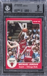 1984-85 Star Basketball #101 Michael Jordan Rookie Card - BGS MINT 9