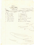 "Tupac Shakur ""Me Against The World"" Hand Written Album Track List (JSA)"