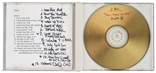 "Tupac Shakur ""All Eyez on Me Book II"" Annotated CD Master Dated 1/12/96"