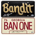 Lot of (2) Burt Reynolds Signed Bandit License Plates (Beckett)