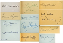 Vintage Baseball Hall of Famers & Stars Signed Autograph Book With 31 Signatures Including 7 Of The 1939 Hall Of Fame Inductees Including Cobb, Young & Wagner (JSA)