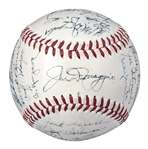 1951 World Champion New York Yankees Team Signed Baseball With 31 Signatures Including DiMaggio, Berra, Rizzuto & A Rookie Mantle! (PSA/DNA 7.5 NM)