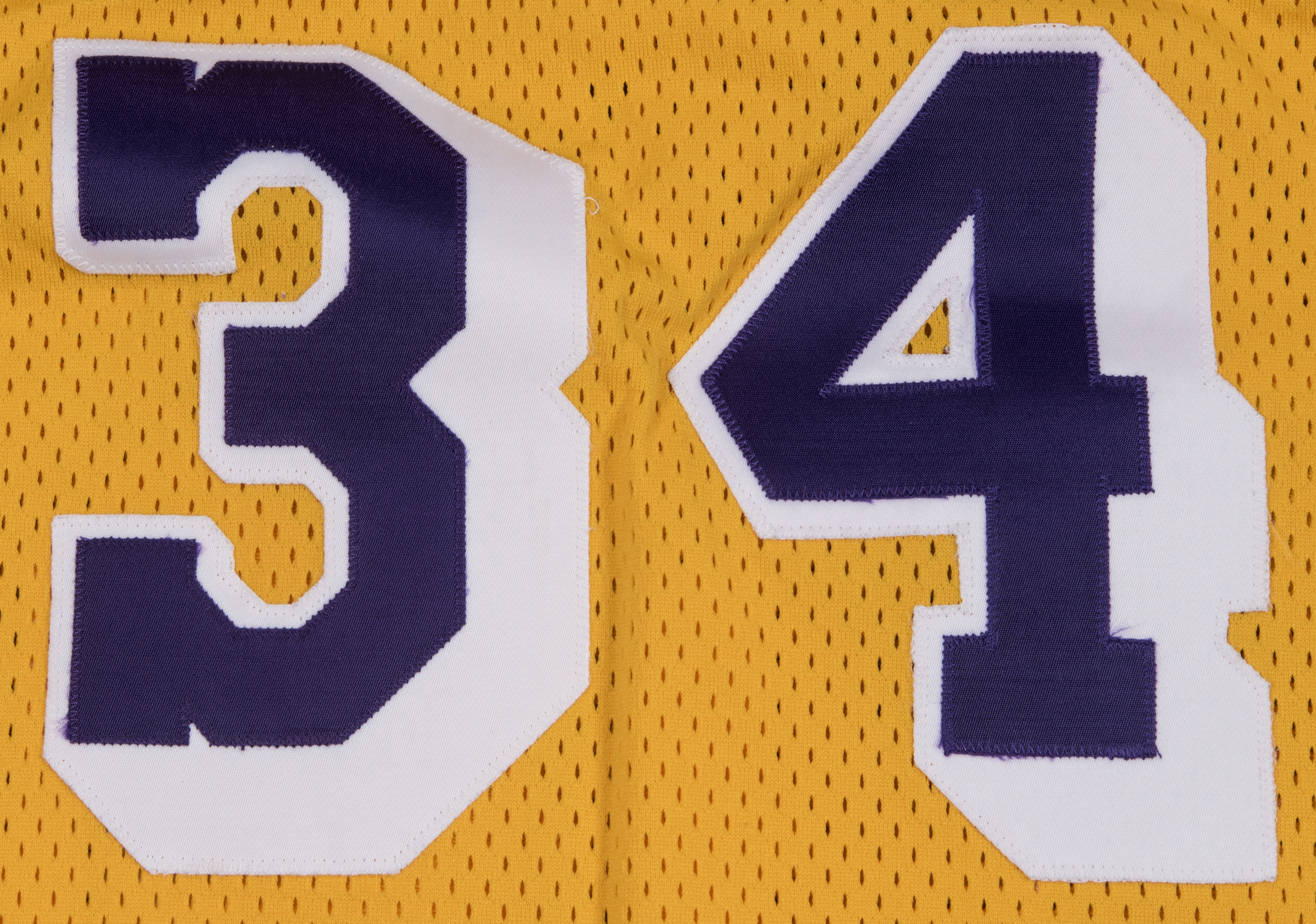 d1596d108 1996-97 Shaquille ONeal Game Used Los Angeles Lakers Home Jersey (DC  Sports). Hover to zoom. Prev Next