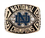 1988 Notre Dame Fighting Irish NCAA Football National Championship Ring With Original Presentation Box