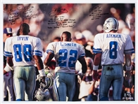 Michael Irvin, Emmitt Smith, & Troy Aikman Multi Signed & Inscribed 30 x 40 Photo (LE 8/8) (Beckett)