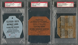 1950s NFL Championship Game Passes Lot Of 3 - 1950, 1952 and 1953