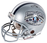 Emmitt Smith Signed 2010 Pro Football Hall of Fame Dallas Cowboys Full Size Helmet (Mounted Memories & PSA/DNA)