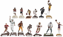 Gartlan and Salvino Multi-Sports Signed Statues Collection (13) - In Original Boxes