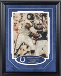 Johnny Unitas Signed Magazine Page In 14x18 Framed Display (JSA)