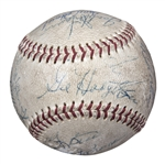 1969 New York Mets Team Signed Baseball With 20 Signatures (Beckett)