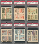 1902-1913 Yale Bulldogs Ticket Stub Collection Lot Of 6 (PSA)