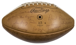 1973 Alabama Crimson Tide Team Signed Rawlings Football With Over 70 Signatures Including Paul Bear Bryant (Beckett)