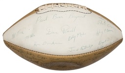 1978 Alabama Crimson Tide Team Signed Rawlings Football With Over 70 Signatures Including Paul Bear Bryant & Ozzie Newsome (Beckett)