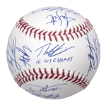 2016 Chicago Cubs Team Signed OML Manfred World Series Baseball With 22 Signatures Including Bryant, Zobrist, Rizzo & Lester (MLB Authenticated, Fanatics & Schwartz Sports)