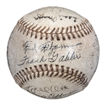 1936 New York Giants Team Signed Baseball With 23 Signatures Including Terry, Hubbell, and Ott (PSA/DNA)